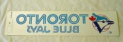 "1970's Toronto Blue Jays 4"" X 14"" Bumper Sticker Vintage Cla"