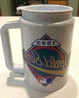 1993 WORLD SERIES PLASTIC TRAVEL MUG - PHILADELPHIA PHILLIES