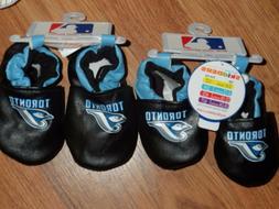 2 pair slipper booties 0-6m & 6-12m ~ Toronto Blue Jays ~ by