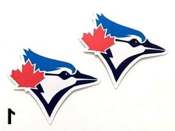 2x Toronto Blue Jays Car Bumper Laptop Wall Vinyl Die Cut St