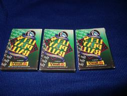 3 NEW PACKS OF TORONTO BLUE JAYS OH HENRY 1995 BASEBALL CARD