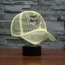 3D Toronto Blue Jays cap 7 color acrylic led table night lig