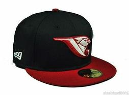 New Era 59Fifty Hat Mens MLB Toronto Blue Jays Black Scarlet