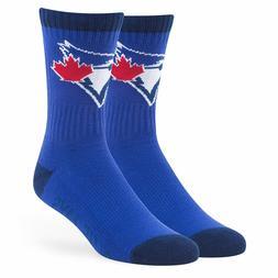 Mens Toronto Blue Jays 47 Brand Bolt Ankle High Socks Large