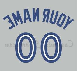 Baseball Toronto Blue Jays Customized Number Kit for 2012-Pr