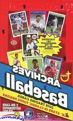 2019 Topps Archives Baseball MASSIVE Factory Sealed 24 Pack