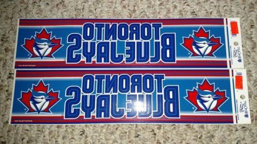 authentic mlb bumper sticker vintage toronto blue