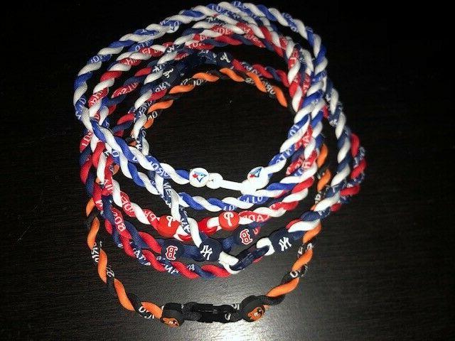 double rope titanium tornado mlb baseball necklace