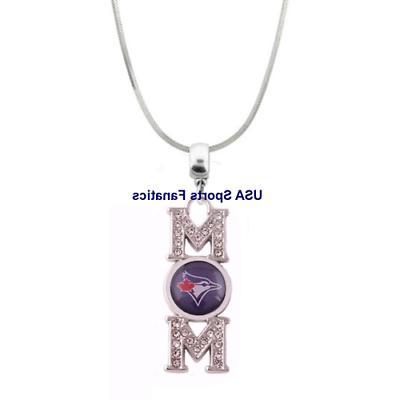 mlb toronto blue jays mom necklace