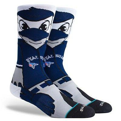 toronto blue jays ace birdy mascot socks