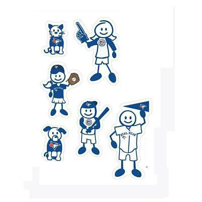 toronto blue jays family decals 6 pack