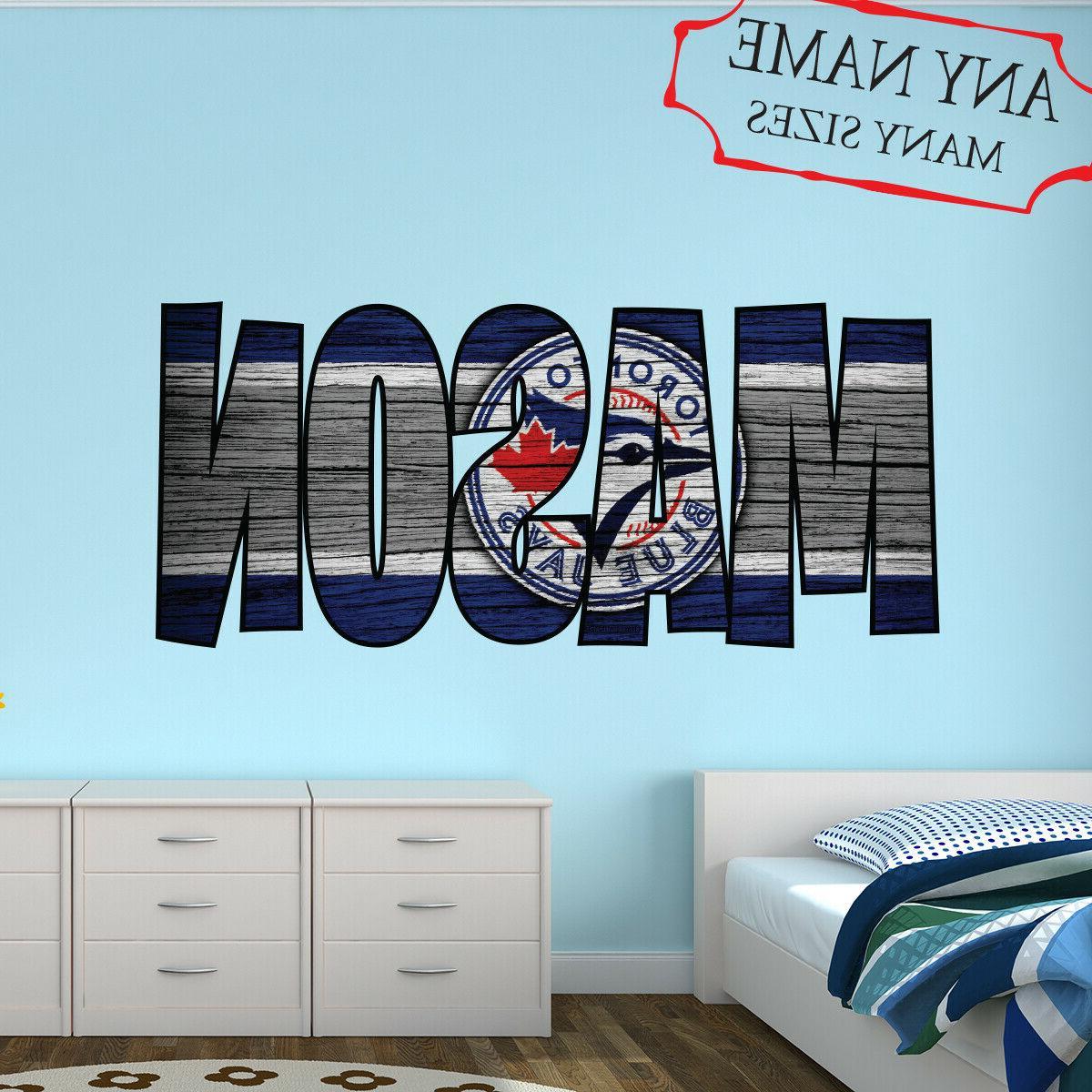 toronto blue jays wall decal art custom
