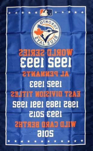 toronto blue jays world series championship flag