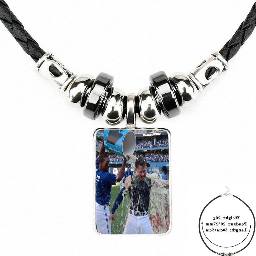 For Women Leather Bead <font><b>Pendant</b></font> Jewelry <font><b>Necklace</b></font> <font><b>Toronto</b></font> Baseball
