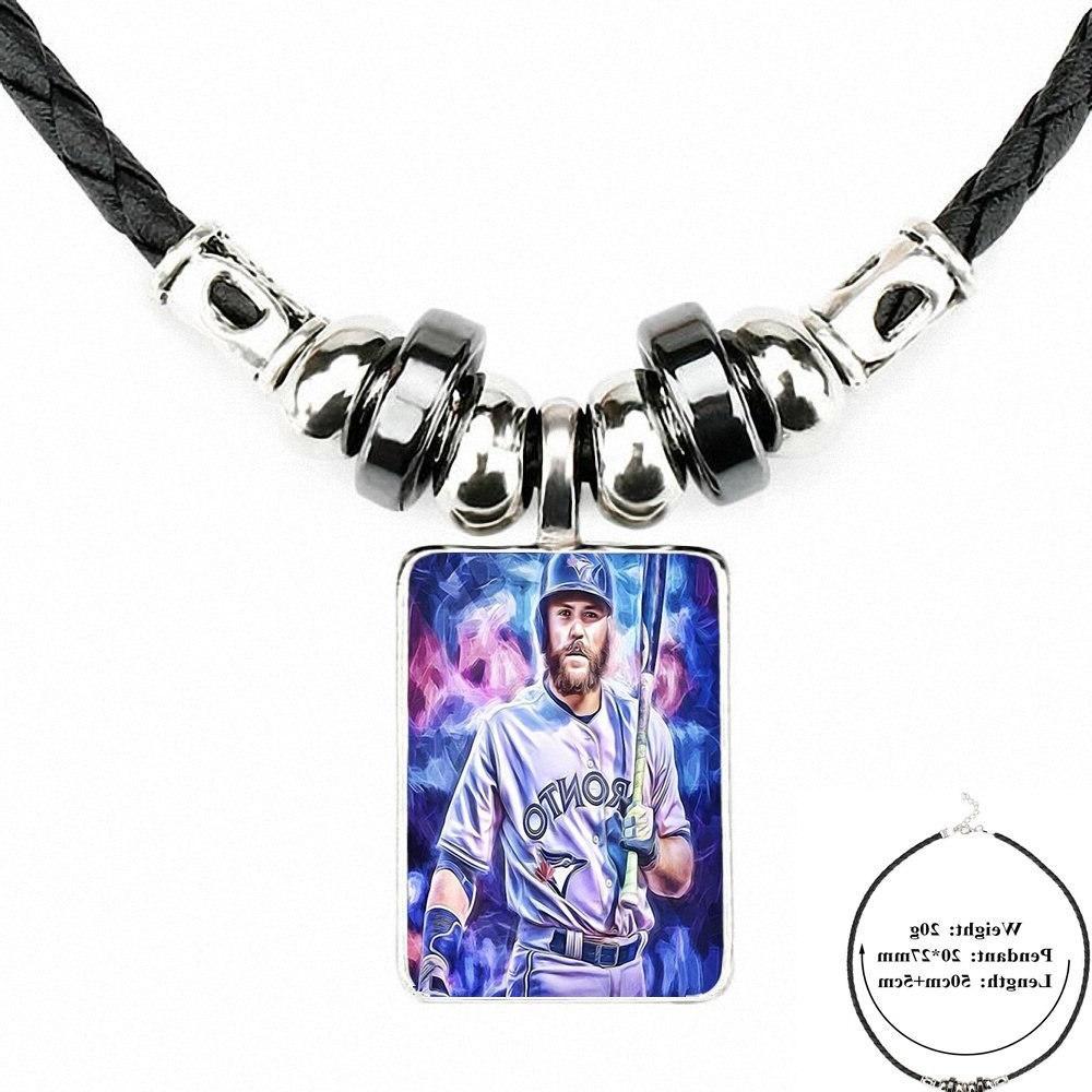 For Women Kids Black Leather Bead <font><b>Pendant</b></font> Jewelry Fashion <font><b>Necklace</b></font> <font><b>Toronto</b></font> <font><b>Jays</b></font> Baseball