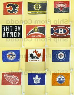 licensed high quality team car window flag