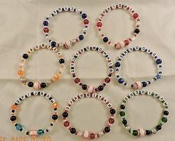 Major League Baseball Team Bead Bracelets - New!