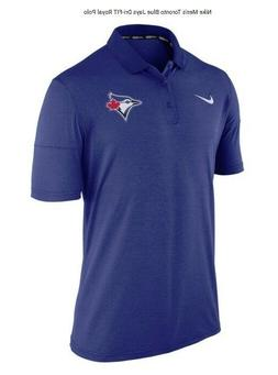 Nike Mens 2XL Toronto Blue Jays Dri-FIT Royal Blue Polo Shir