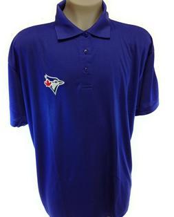 Mens MLB Majestic Toronto Blue Jays Birdseye Polo Baseball S