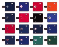 MLB Baseball All Teams Design Samsung Flip Wallet Phone Case
