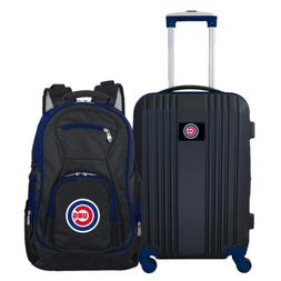 MLB Chicago Cubs 2-Piece Set Luggage and Backpack