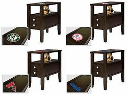 End Table or Nightstand with Drawer Espresso Finish with MLB