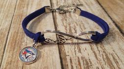 MLB I love Toronoto Blue Jays baseball suede leather bracele