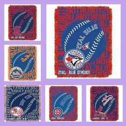 MLB Licensed Double Play Triple Woven Jacquard Throw Blanket