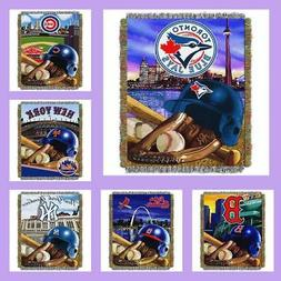 MLB Licensed Home Field Advantage Tapestry Afghan Throw Blan