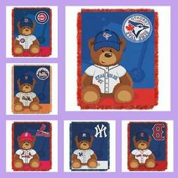 MLB Licensed Triple Woven Jacquard Afghan Throw Baby Blanket
