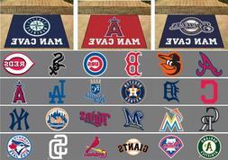 """MLB Man Cave Allstar Area Rugs 34"""" x 43"""" All Teams"""