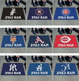 MLB Man Cave Area Rugs 5' x 8' Ultimat All Teams