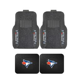 MLB Toronto Blue Jays 2-Pc & 4-Pc Deluxe Floor Car Truck Mat
