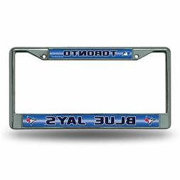 Rico MLB Toronto Blue Jays Bling License Plate Frame, Chrome