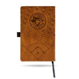 MLB Toronto Blue Jays Laser Engraved Leather Notebook - Brow