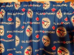 MLB Toronto Blue Jays Sports Team Bedroom Curtain Valances,