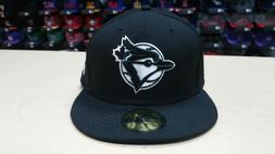 New Era MLB Toronto Blue Jays Team Black White 59FIFTY Fitte