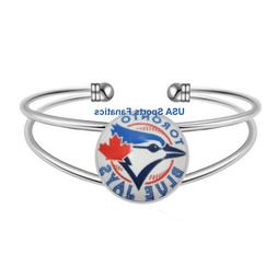 MLB - Toronto Blue Jays Team Logo Adjustable Bangle Bracelet