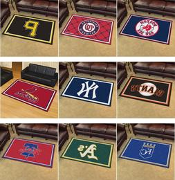 MLB Ultra Plush Area Rugs 4 x 6 Choose Your Team All Teams
