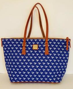 New Dooney Bourke MLB Toronto Blue Jays Zip Top Shopper Bag