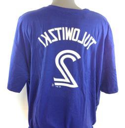 NEW Mens Majestic Toronto Blue Jays Troy Tulowitzki #2 MLB B