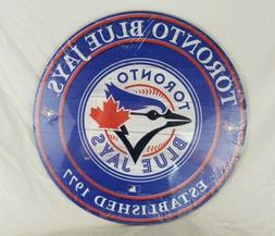 NEW MLB TORONTO BLUE JAYS Baseball Logo Round Wood Wall Deco