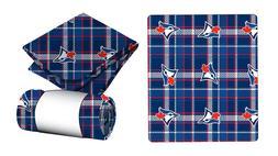 New MLB Travel Blanket Plaid - Toronto Blue Jays Fleece Thro