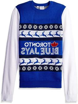 NWT MLB Toronto Blue Jays Klew Christmas Sweater Adult  M or