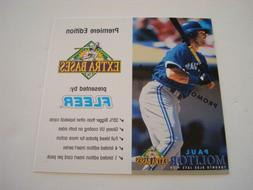 PAUL MOLITOR  1994 FLEER EXTRA BASES PROMO CARD