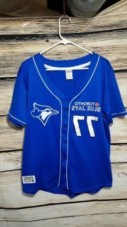 PINK Toronto Blue Jays Size Medium Button Up Jersey Shirt Vi