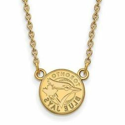 10ky MLB  Toronto Blue Jays Small Logo Pendant w/Necklace