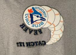 T-Shirt with Toronto Blue Jays Vintage Transfer Fever CATCH