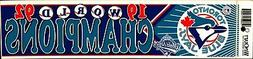 Toronto Blue Jays 1992 World Series Champions ~ Licensed Bum