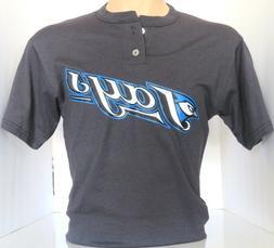 Toronto Blue Jays Majestic 2 Button  T-Shirt MLB Size L  NWO